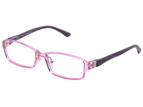 - De Ding Children's Acetate Optical Eyeglasses Frames With Spring Hinge (Pink, 48)