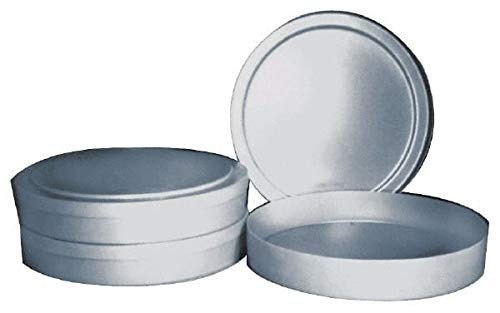 Bayhead Products - Gray Cylindrical Polyethylene Stacking Container 6-1/2'' High x 17'' Diam