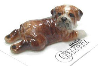 """Used, ENGLISH BULLDOG Puppy Dog """"Winston"""" lays flat New Figurine for sale  Delivered anywhere in USA"""