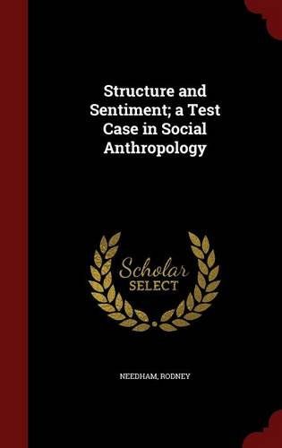 Download Structure and Sentiment; a Test Case in Social Anthropology pdf epub