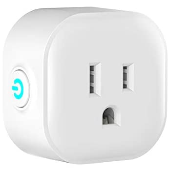 DOGAIN Mini smart plug outlet compatible with Google Home/IFTTT/Alexa,Remote control and voice control socket with WiFi,no hub required.1pc pack