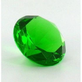 Mother's Day Special: Green Glass Diamond Shaped Paperweight 100mm by H-M - H M Glasses And