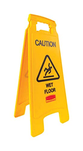 Rubbermaid Caution Sign Yellow With Black Letters ()
