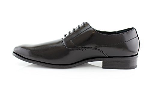 Delli Aldo Frank M19121 Mens Classic Oxford Lace Up Dress Scarpa Black205
