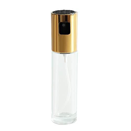 Olive Oil Sprayer Mister Oil Dispenser Bottle 100ml, Premium Glass Oil Vinegar Soy Sauce Dispenser Pump Sprayer for BBQ, Grilling, Kitchen, Cooking, Salad, Bread Baking, Frying
