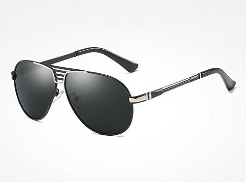 Plata los Deportes Sunglasses Aire al Gafas Libre Guía Sol de TL de silver Negro black Hombres Gafas Hombres para Gafas Gafas Macho gray de Gris 1O0dqdw
