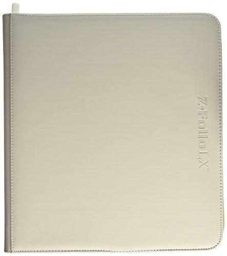 BCW Z-Folio LX Zipper Portfolio White 12 Pocket Playset Album
