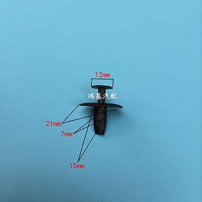 Bumper Grille Trim Clips Fasteners for Bonnet 10x Peugeot Plastic Rivet Clips