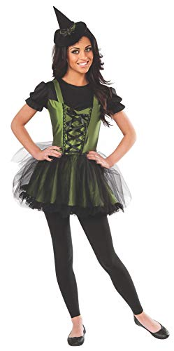 (Rubie's Women's Wizard of Oz 75th Anniversary Young Adult Wicked Witch of The West Costume, Black/Green)