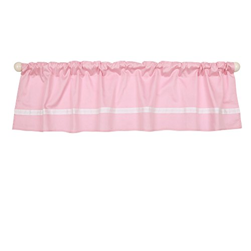 Pink Tailored Window Valance by The Peanut Shell - 100% Cotton Sateen by The Peanut Shell
