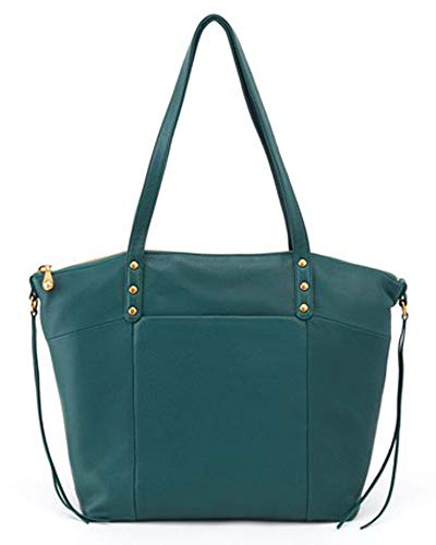 HOBO Dustin Dark SO Teal Velvet Tote in 82265 rrq1BT