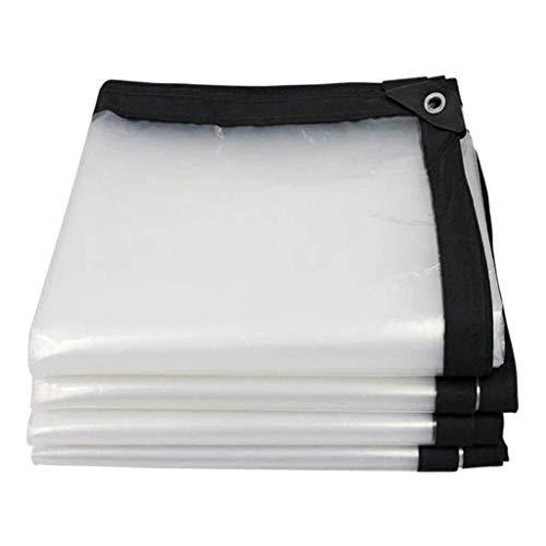LAXF-abdeckplanen Schwere 5 Mil Durchsichtige Poly-Tarp-Abdeckung - Dicke, Wasserdichte, UV-Besteändige, gegen Fäulnis, Reiß- und Reißfeste Plane mit Ösen und verstärkten Kanten