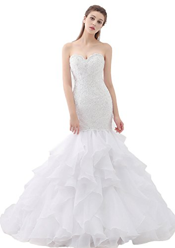 Beauty Bridal Sweetheart Mermaid Bridal Gown Plus Size Wedding Dresses for Bride