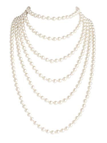 Zivyes 1920s Pearls Necklace Gatsby Accessories 82