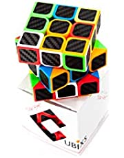 CUBIXS® Zauberwürfel 3x3 - Carbon Sticker - Original Speedcube - Typ New York - optimierte Dreheigenschaften für Speed-Cubing - Magic Cube 3x3x3- für Anfänger und Fortgeschrittene