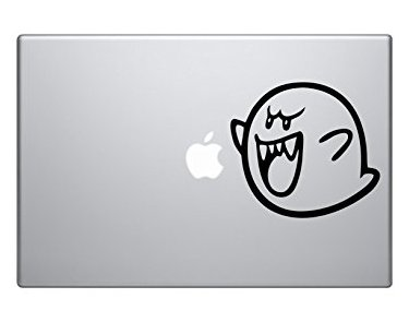 Mario Boo Ghost cartoon character car truck SUV macbook mac air laptop toolbox decal sticker - Sticker Graphic - Auto, Wall, Laptop, Cell -