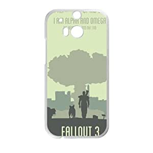FALLOUT HTC One M8 Cell Phone Case White&Phone Accessory STC_994034