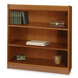 Safco Products 1502MOC Square-Edge Bookcase, 3 Shelf, Medium Oak