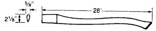 Vaughan & Bushnell 652-82 28'' Replacement Handle for Boys Single Bit Axe - Supreme Grade (65282)