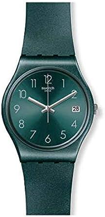 Swatch Reloj Analógico para Mujer de Cuarzo con Correa en Silicona GG407