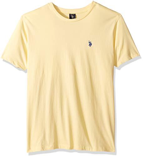 U.S. Polo Assn. Men's Crew Neck Small Pony T-Shirt, Bayview Yellow, S