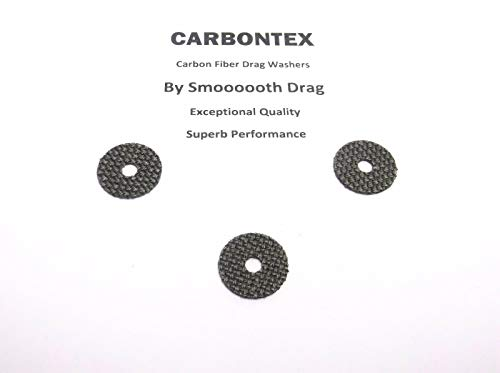 3000f Replacement - Shimano Reel Part - Saros 3000F - (3) Smooth Drag Carbontex Drag Washers #SDS60
