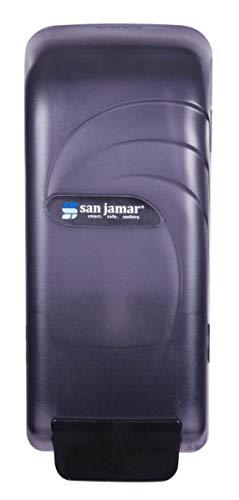 Universal Liquid Soap Dispenser - San Jamar S890TBK Oceans Universal Liquid Soap Dispenser, 4 1/2 x 4 3/8 x 10 1/2, 800mL, Black