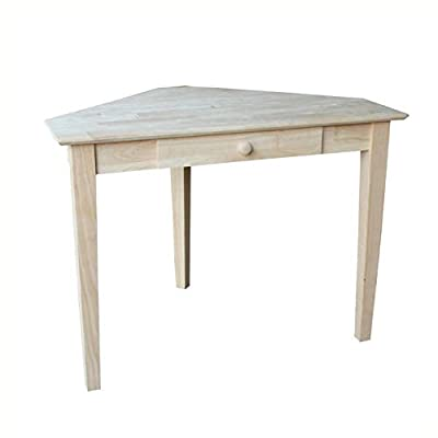HEATAPPLY Computer Desks, Unfinished Wood Corner Desk Laptop Computer Writing Table with Drawer