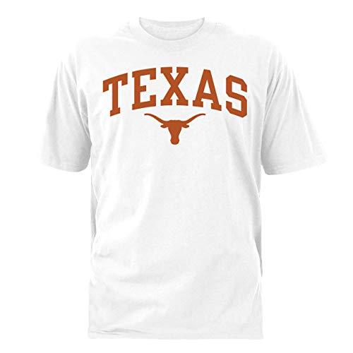 NCAA Texas Longhorns Cotton Crew T-Shirt-White-Arch-Small ()