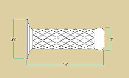 25mm Biltwell Thruster Griffe f/ür 1 Lenker in Braun TPV Gummi