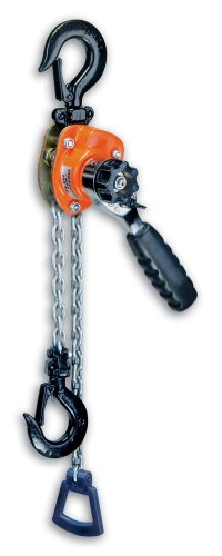 CM 602 Series Mini Ratchet Lever Chain Hoist, 6-19/64' Lever, 550 lbs Capacity, 5' Lift Height