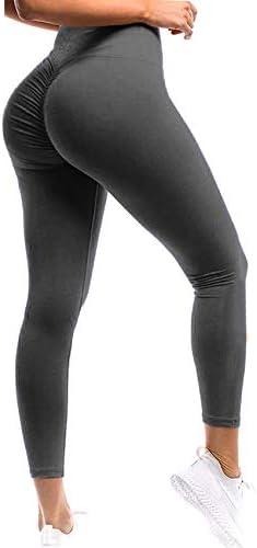 SEASUM Women Scrunch Butt Leggings High Waisted Ruched Yoga Pants Workout Butt Lifting