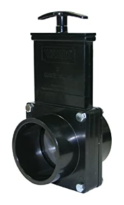 "Valterra 5303 ABS Gate Valve, Black, 3"" Spig from Valterra Products"