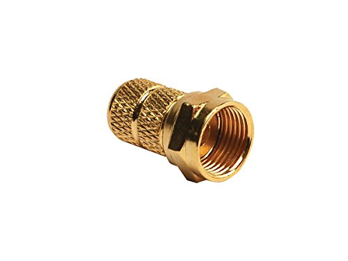 (RV Designer T183, RG59-Gold Cable Connector, Twist On, 2 Per Pack)