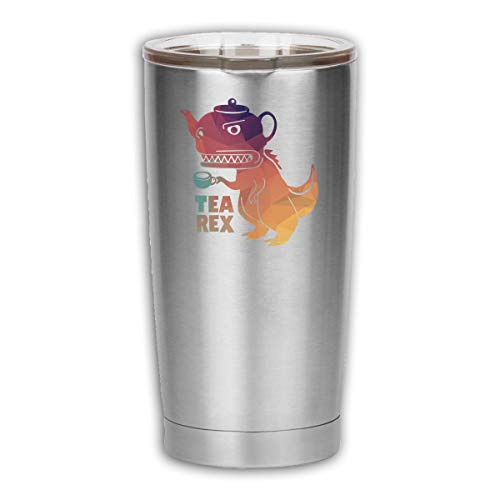 Robert S Villa Tea Rex 18 OZ Tumbler Vacuum Insulated Stainless Steel Coffee Cup with Lid - Travel Mug Works Great for Ice Drink, Hot Beverage -  RobertSVilla-15468149