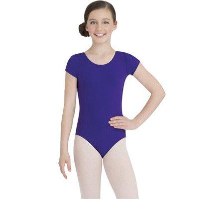 Capezio Dance Girls' Short Sleeve Leotard TB132C ,Purple,US