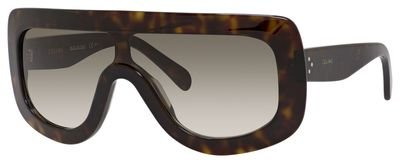 1686a4b7952 Celine Adele CL 41377 086 Dark Havana Plastic Shield Sunglasses ...