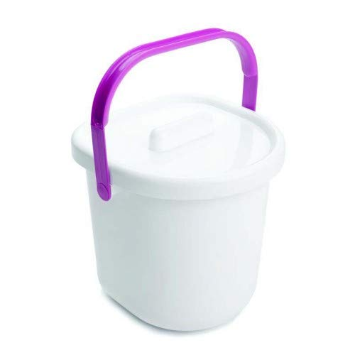 The Neat Nursery Co. Nappy Pail and Lid White/Pink