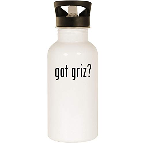 got griz? - Stainless Steel 20oz Road Ready Water Bottle, White - Rebels Cycling Jersey