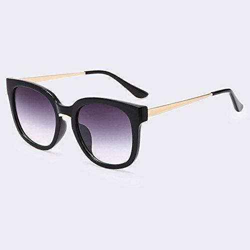 de UV400 TIANLIANG04 gafas sol sol moda de alta calidad Fecha de Goggle de femenino de mujer oculos en de C04Brown C06Gray aleación gafas de gafas piernas wgZYxg