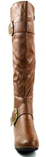 Scarpe Da Kali Calzature Da Donna Al Ginocchio Alta Moda Stivali Di Castagno