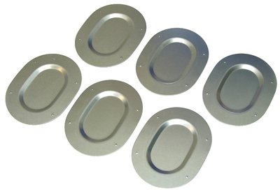 Compatible With 1967-1977 Body Galvanized Metal Trunk Floor Pan Drain Plugs Set Plate Covers 6 Piece (J-7-7)