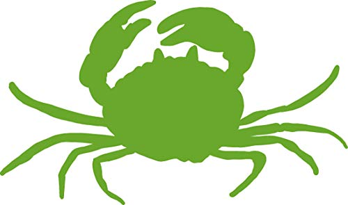 (hBARSCI Crab Vinyl Decal - 5 Inches - for Cars, Trucks, Windows, Laptops, Tablets, Outdoor-Grade 2.5mil Thick Vinyl - Lime)