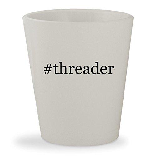 #threader - White Hashtag Ceramic 1.5oz Shot (Pfaff Serger)