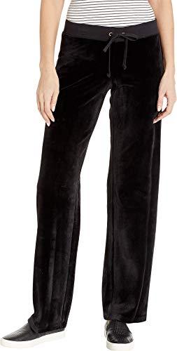 Juicy Couture Women's Track Luxe Velour Mar Vista Pants Pitch Black Medium