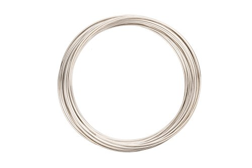 Steel Wire Memory Plated - Memory Wire Bracelet Silver Plated Steel Wire 50mm Round sold per30g/42 loops/pack (2pack bundle),