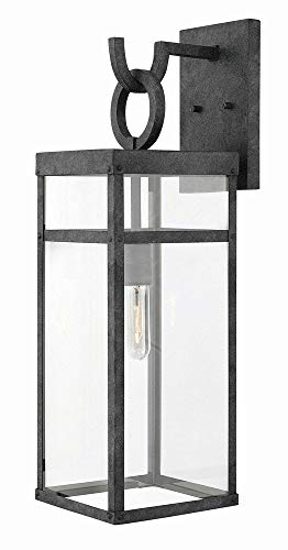 Hinkley 2805DZ Transitional One Light Outdoor Wall Mount from Porter collection in Bronze/Darkfinish, ()