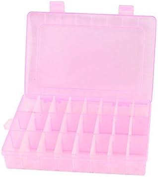 Ajustável Caixa da jóia 24 slots de armazenamento Tool Box rosa Organizador Artesanato: Amazon.es: Oficina y papelería