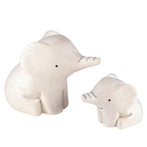 polepole Wooden animal Family Set Elephant