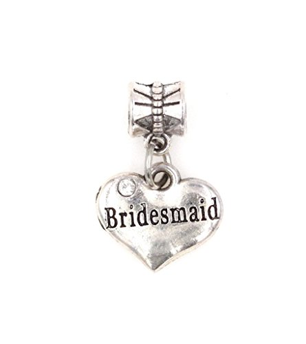It's All About...You! Bridesmaid Dangling European Bead Charm 84W (Charme Und Charm Sonnenbrille)